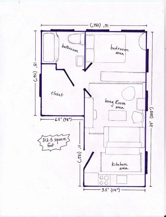 668 best images about hs design small dwellings on for Small basement apartment floor plans