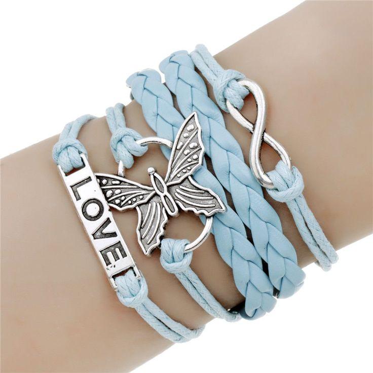 Hot men jewelry love owl charm bracelets anchor leather bracelet best friend friendship bracelets & bangles pulseira de ancora