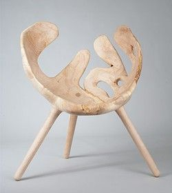 """Skog"" by Stian Korntved RuudWooden Chairs, Wood Chairs, Sweets Wooden, Beautiful Organic, Photos Props, Interiors Decor, Skog Stian Korntv, Art Furniture, Korntv Ruud"