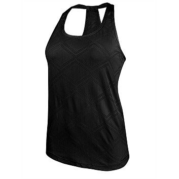 Womens Sports Clothing & Sportswear - Womens Sports Apparel - Rebel - Running Bare Womens Diamond Mesh Workout Tank