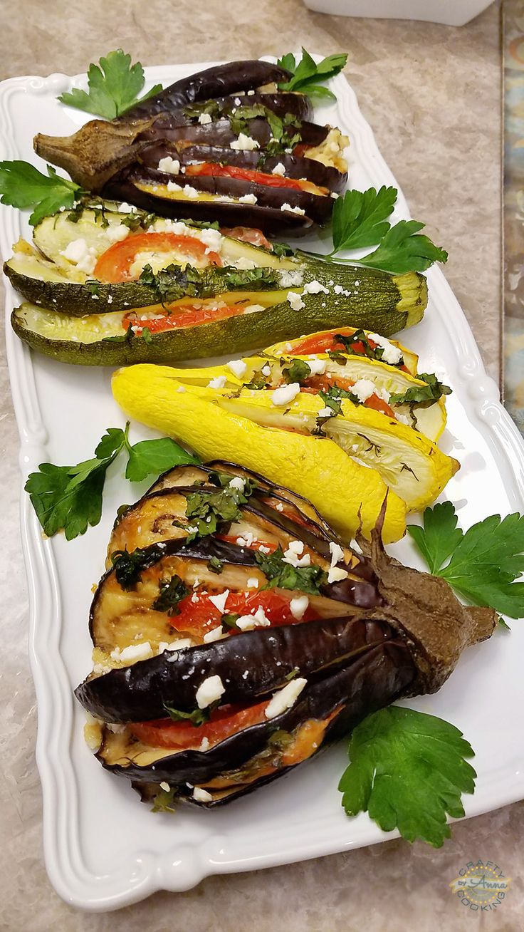 Super Delicious Mediterranean Roasted Eggplant, Zucchini and Yellow Squash Fans!