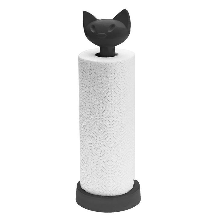 Stojak na ręczniki papierowe czarny Miaou KZ-5225526