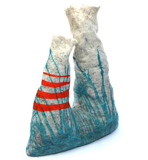 #felt: Fiber Fabrics, 3 D Art, Art Ideas, Wonki Vanjabazdulj Com, Felt Ideas, Big Wonki, Small Rocks, Sculpture Inspiration, Vanja Bazdulj