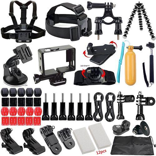 RUITAI 49-in-1 Outdoor Sport Camera Accessories Bundle Kit for Gopro, SJ Cam, Xiaomi Yi $22.99 (Reg $94.99) - http://couponingforfreebies.com/ruitai-49-1-outdoor-sport-camera-accessories-bundle-kit-gopro-sj-cam-xiaomi-yi-22-99-reg-94-99/