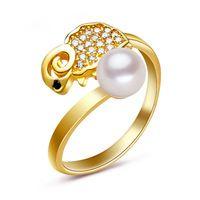 2016 Новый Круг форма 100% естественный пресноводный жемчуг кольца 6-7 мм высокое качество S925 серебро Позолота украшений для женщин оптовая