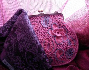 Borsa rossa borsa di damigelle d'onore borsa di WillowFairyJewelry