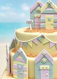 beach hut cakes - Google Search