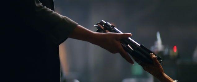 Sabías que El sable de luz de Luke tiene un nuevo propietario en Star Wars:The Force Awakens