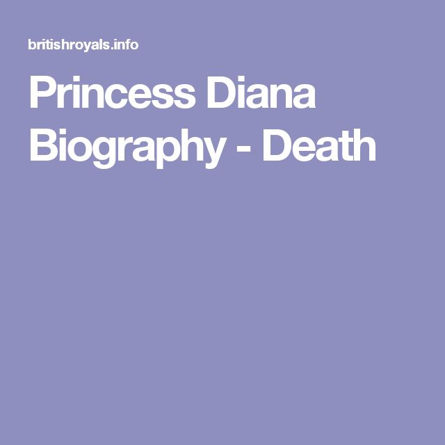 the life and death of princess diana of whales Dateline friday preview: the life and death of princess diana: a dateline investigation this year marks 20 years since princess diana was killed in a car accident.