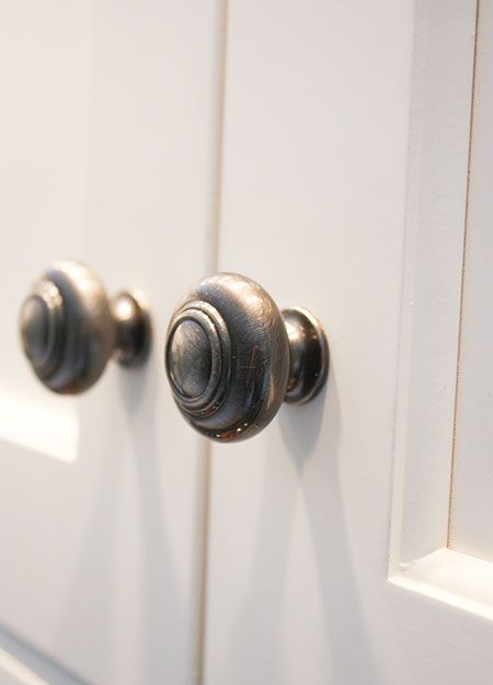 Elegant Antique Pewter Cabinet Knobs