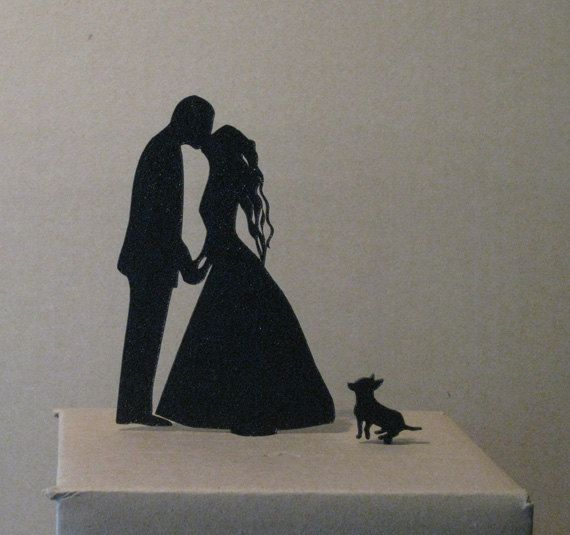 Cake Topper Wedding Cake Topper Chihuahua cake by Plasticsmith