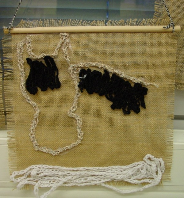 virkkaustaulu / chain stitch picture