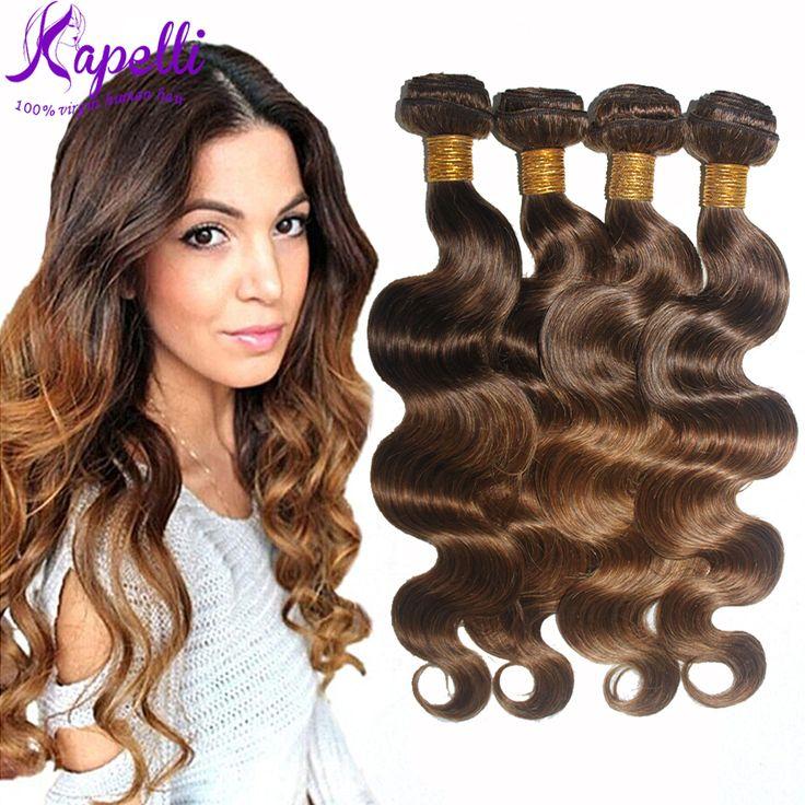 8A Brazilian Virgin Hair Body Wave Human Hair Ombre 3 Bundles Brazilian Hair Weave Bundles  Ombre Hair Extensions