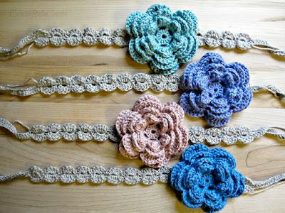Op het blog Create Bella Create vond ik het patroontje van deze haarband!  Een leuk klein projectje voor...