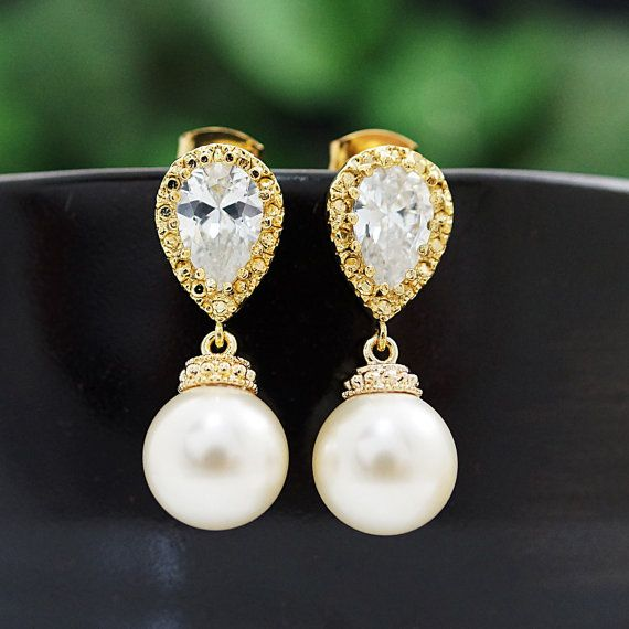 Wedding Bridesmaid Gift Bridal Earrings Bridal by earringsnation