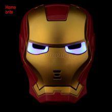 Los Vengadores Capitán América Máscara Iluminación Sin Iluminación de Dibujos Animados Spiderman Hulk Iron Man Máscara de Halloween Accesorios HW124(China (Mainland))