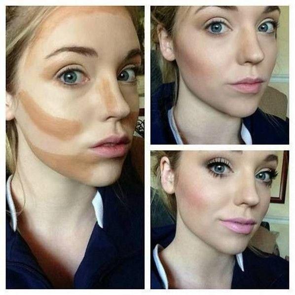 Homemade Beauty Tips - highlight and contour for fair skin