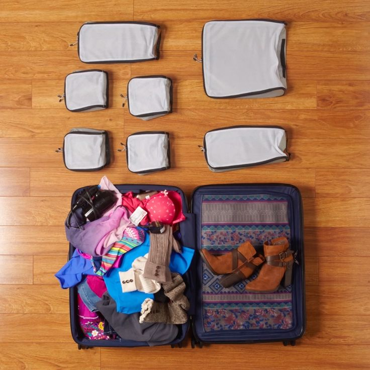 Set up your baggage with packing cubes designed to suit your bag