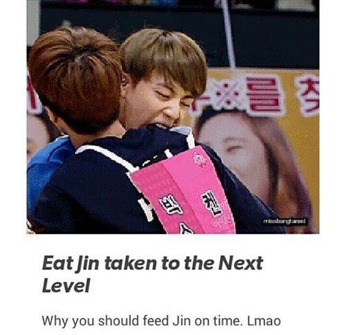Eating your friends is no good xD | BTS - Jin, VIXX - Ken