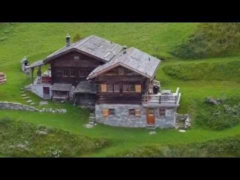 Drone, Valais, Suisse, La Tzoumaz, Verbier, Les chalets d'Emile - YouTube