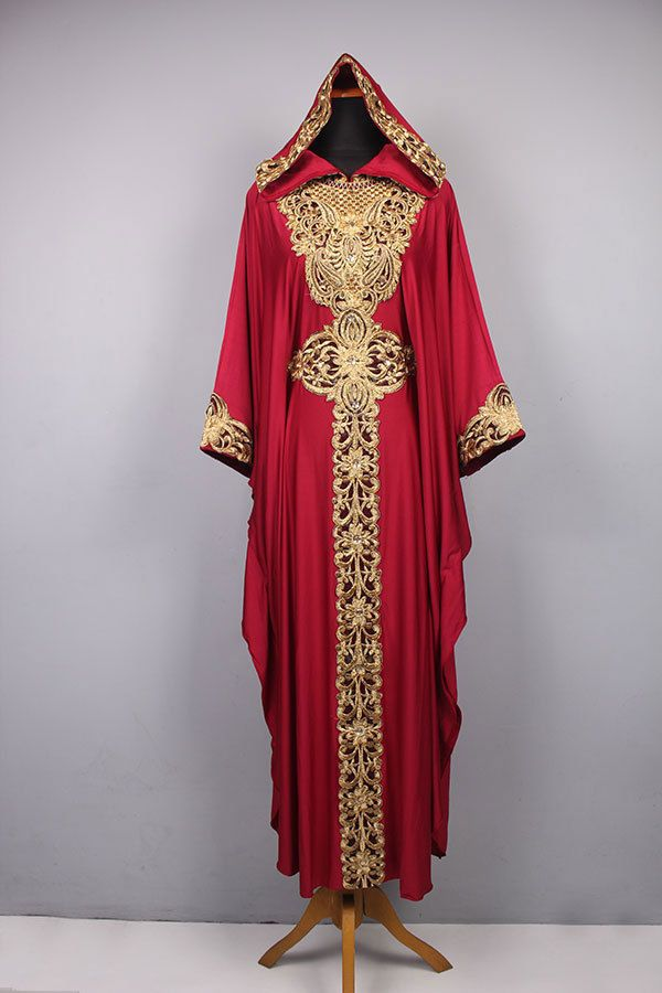 Moroccan Hoodie CAFTAN Red Spandex Abaya Maxi Dress Gold Embroidery Jalabiya #Handmade #MaxiDress #Christmasdress #eiddress#wholesalekaftan #wholesaledress #exclusivedress #spandexdress #hoodiekaftan #redcaftan #embroiderydress #clothing #dress #women #boutique