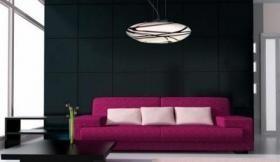 aranżacja wnętrz - Wykorzystano oprawę Lampa wisząca ASTRO chrome/ violet (MD72-1L Azzardo)