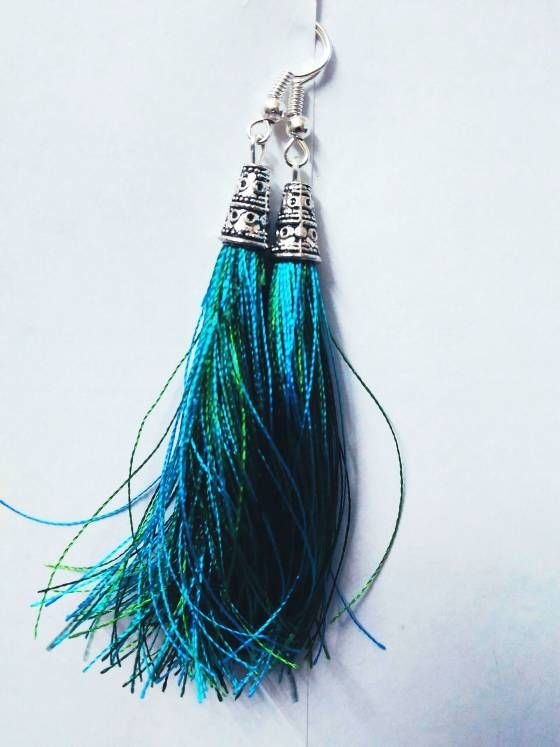 Shopo.in : Buy Silk Thread Tassel Earrings online at best price in Chennai, India