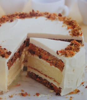 Blog As You Bake: Junior's Carrot Cake Cheesecake - Baked with love for my husband on Father's Day