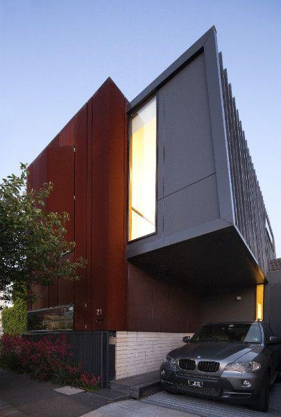 Corten architecture with colourful interiors in Melbourne | Designhunter - architecture & design blog