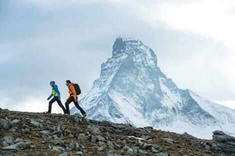 The trekking begins and ends in Zermatt. Along the entire route, one hikes far from civilisation from hut to hut. Along the path on either side are rare flowers and into the distance at eye level stretch the mountain giants including the Matterhorn with its awesome and terrifying north wall.