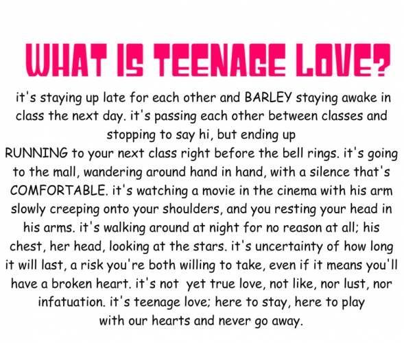 Best 20+ Teenage Love Quotes ideas on Pinterest | Teenage life ...