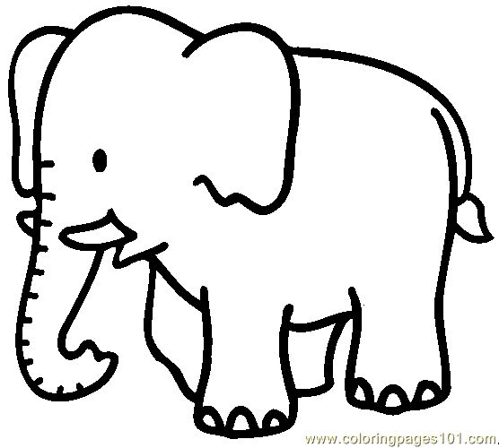 Free Printable Coloring Image Elephant Coloring Page 04 Coloring - Coloring-pages-elephants