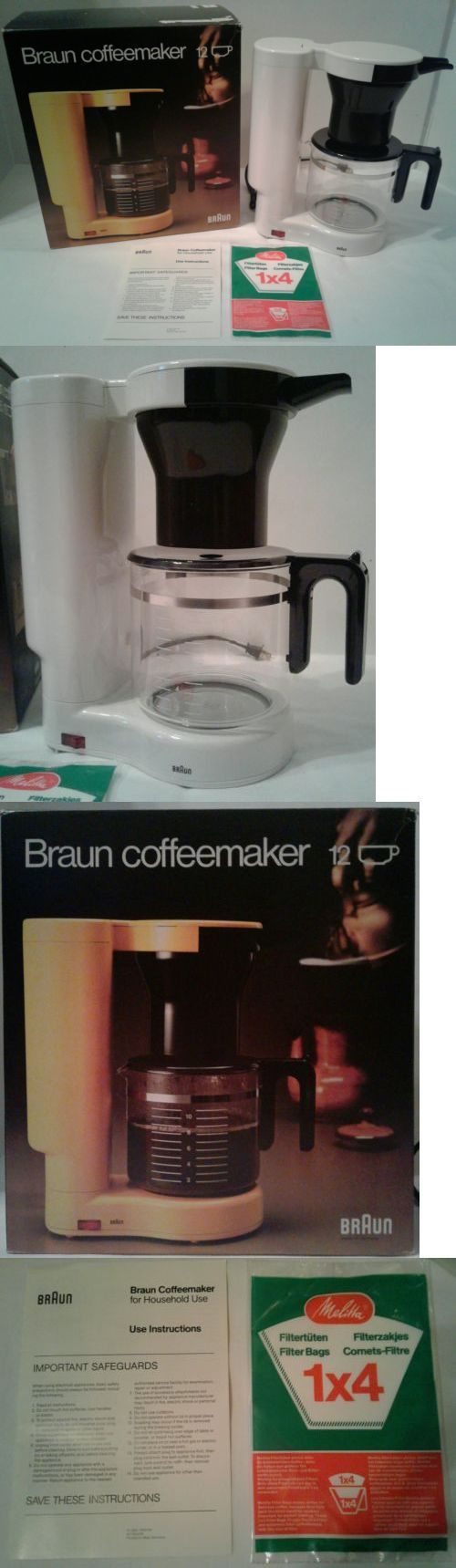 Kitchen small appliance circuit - Small Kitchen Appliances Vintage 1978 Braun Kf35 4053 12 Cup Electric Coffee Maker Machine Brand