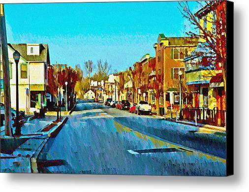 Lincoln Hwy Downingtown Pa Canvas Print / Canvas Art By Bill Cannon