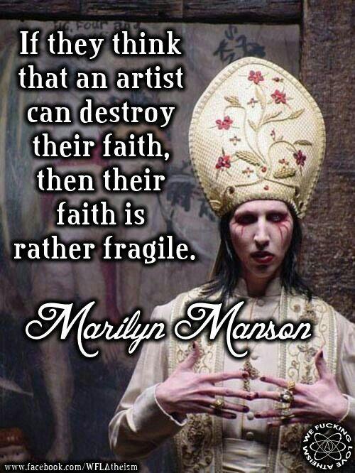 Marilyn Manson #Atheist  #MarilynManson #Faith