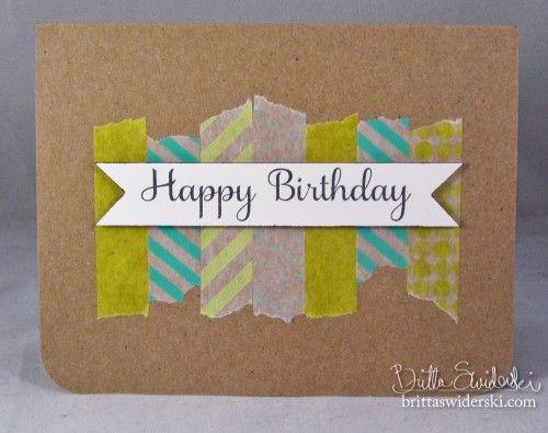 Simple, but cute!  05-19-12 Happy Birthday Washi - Britta Swiderski