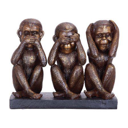 Monkey Speak See Hear No Evil Sculpture Walmart Com Sculpture Wise Monkeys Three Wise Monkeys