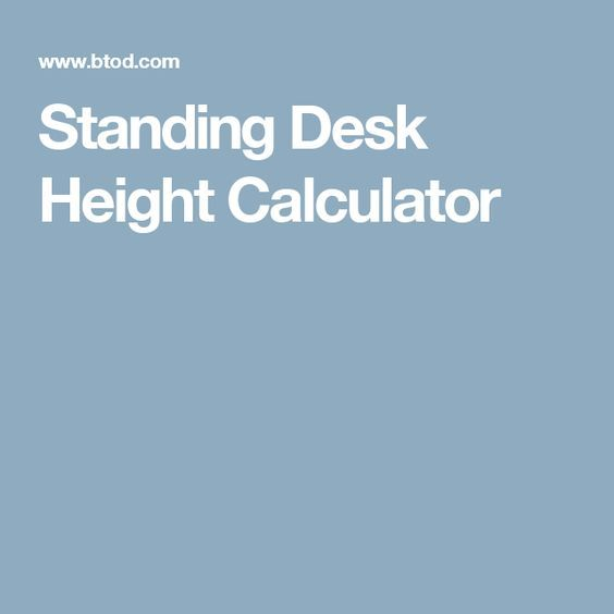 25 Best Standing Desk Height Ideas On Pinterest