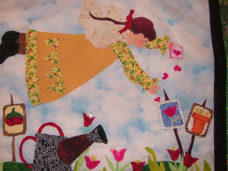 Garden Angel Art Quilt Made By My Mom!
