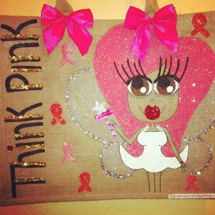 Think pink bag  ( this design is a set design and all money from this bag goes to cancer research ) £30