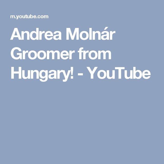 Andrea Molnár Groomer from Hungary! - YouTube