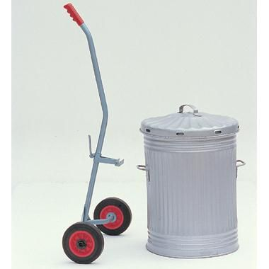 Sturdy construction for the easy handling of dustbins, churns, etc. Pick up height fully adjustable. Composition rubber wheels 178mm. dia. Finish blue or green. - See more at: https://actionhandling.co.uk/Our-Store/c/trucks/p/bin-handling-trolley#sthash.7qfrvjFj.dpuf