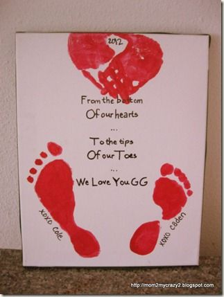 From the Bottom of my hearts ... to The Tips of our Toes ... We Love You (Made with my two kids but you can do with one kid using one foot)