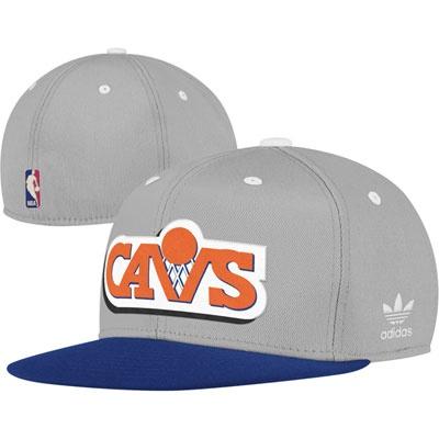 Cleveland Cavaliers Hardwood Classic Logo Flat Visor Flex Hat. Old school retro Cavs logo!