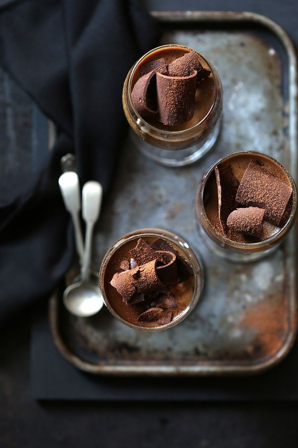 Coffee chocolate panna cotta