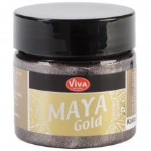 Maya Gold Coco is a silky gloss effect, water based paint with an intensive metallic color depth.      Impact resistant     Quick drying     Highly pigmented     Smudge and weatherproof     For absorbent and non-absorbent surfaces including polymer clay and fabric.  Available in 24 shimmery colors!  Poly Clay Play carries Viva Decor Products you will love!: