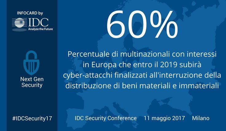 Il 60% delle multinazionali con radici in Europa entro il 2019 subirà significativi attacchi informatici finalizzati all'interruzione della distribuzione di beni materiali e immateriali #cybercrime #cybersecurity #security