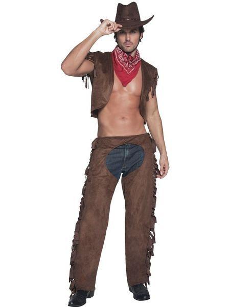 Cowboy asu standardikokoisena. Länkkärit ovat jo sinänsä kuumia, mutta tässä asussa tarvitsee varoa, ruuti syty… #naamiaismaailma