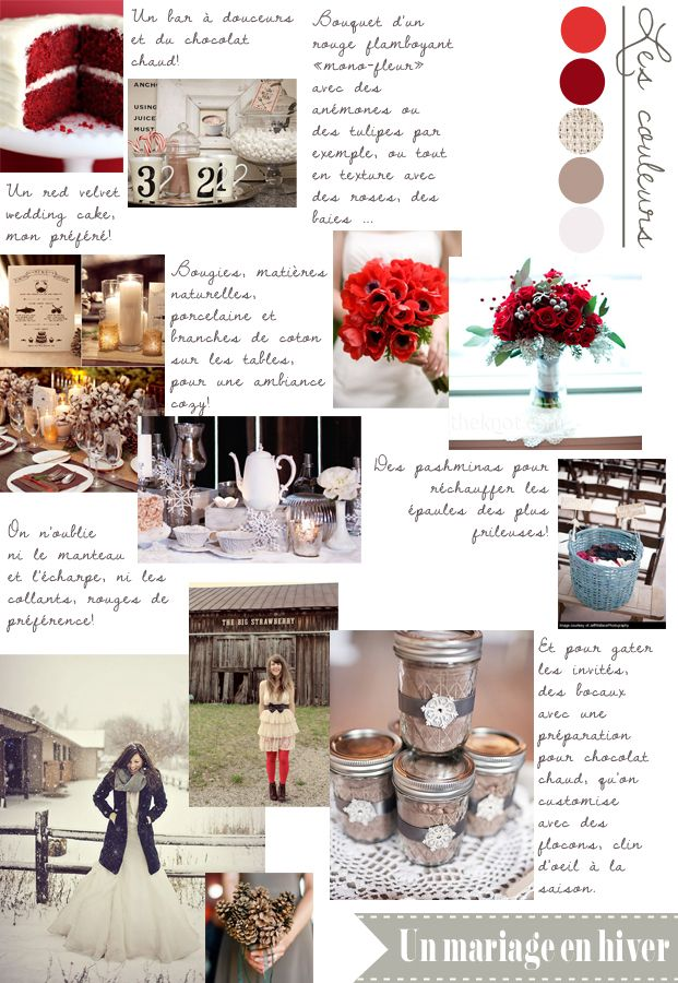 Carnet d'inspiration {un mariage en hiver} par #lamarieeauxîedsnus #wedding #inspiration    Crédits photo/ Sources: Sloan Photographers / Aaron Delesie / Norococo / Bakerella / James Christianson / The Knot / Brideorama / Selective Potential / A room for Everyone / Ruffledblog / My Sweet and Saucy / Bing / LoveBird Style /