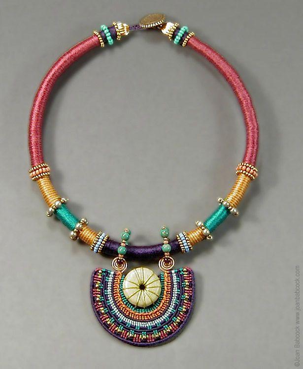 NOTE:  LOVE LOVE LOVE Joan B.'s Micro Macrame Art.  First time seeing her beautiful Fiber art<3 Fiber art jewelry by Joan Babcock